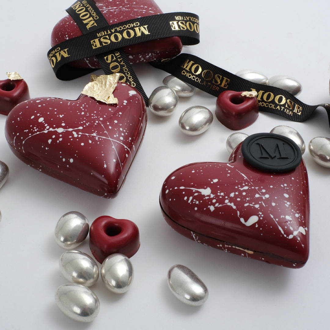 2'li Kalp Tasarım Çikolata