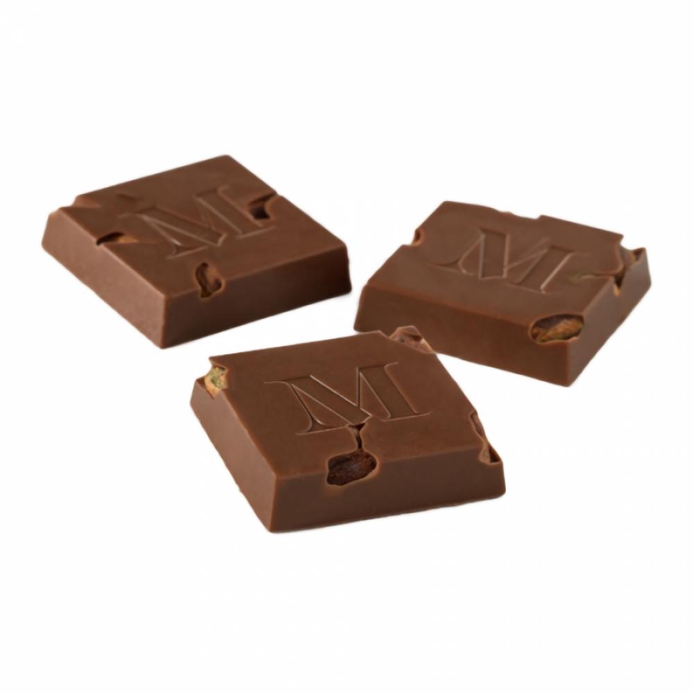 Sütlü Bütün Fıstıklı Kare Çikolata