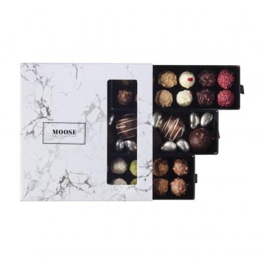 Spesiyal Karışık Mermer Desenli Kutu Çikolata - Thumbnail